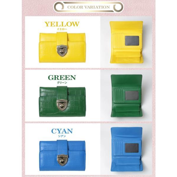 財布 2つ折り財布 レディース 二つ折り クロコダイル ミニ財布 ブランド  PD55 通|shop-ybj|18