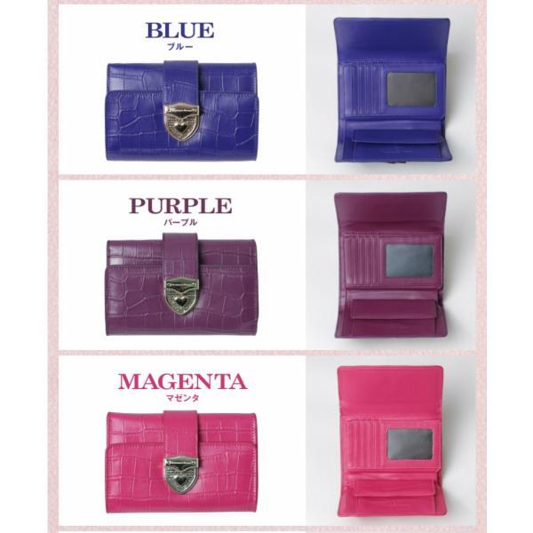 財布 2つ折り財布 レディース 二つ折り クロコダイル ミニ財布 ブランド  PD55 通|shop-ybj|19