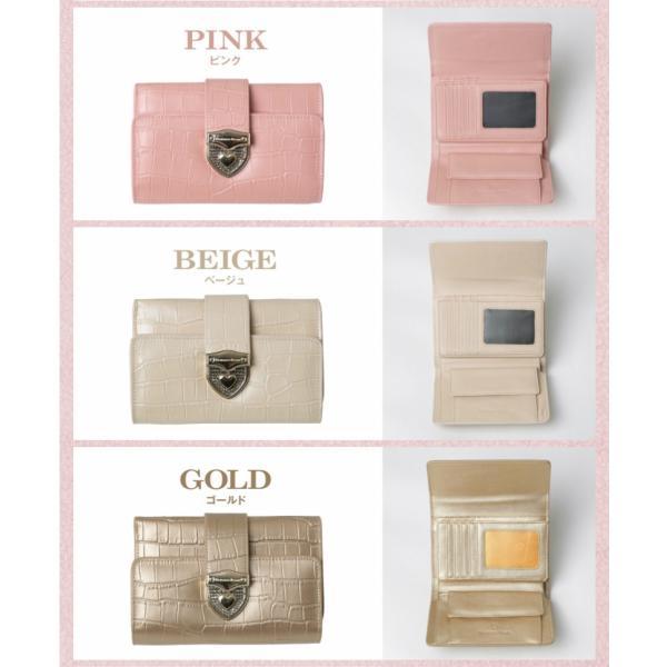 財布 2つ折り財布 レディース 二つ折り クロコダイル ミニ財布 ブランド  PD55 通|shop-ybj|20