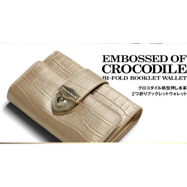 財布 2つ折り財布 レディース 二つ折り クロコダイル ミニ財布 ブランド  PD55 通|shop-ybj|03