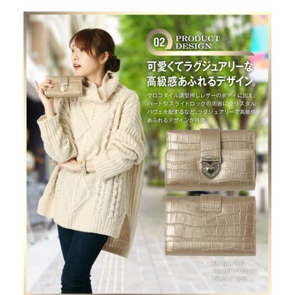 財布 2つ折り財布 レディース 二つ折り クロコダイル ミニ財布 ブランド  PD55 通|shop-ybj|06