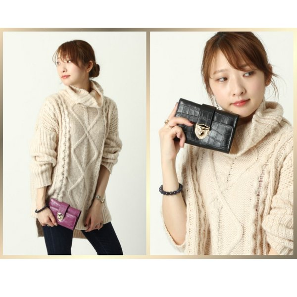 財布 2つ折り財布 レディース 二つ折り クロコダイル ミニ財布 ブランド  PD55 通|shop-ybj|07