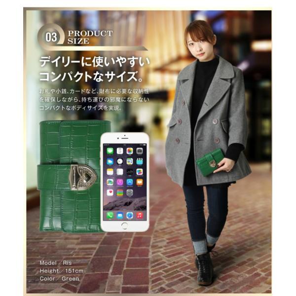 財布 2つ折り財布 レディース 二つ折り クロコダイル ミニ財布 ブランド  PD55 通|shop-ybj|08