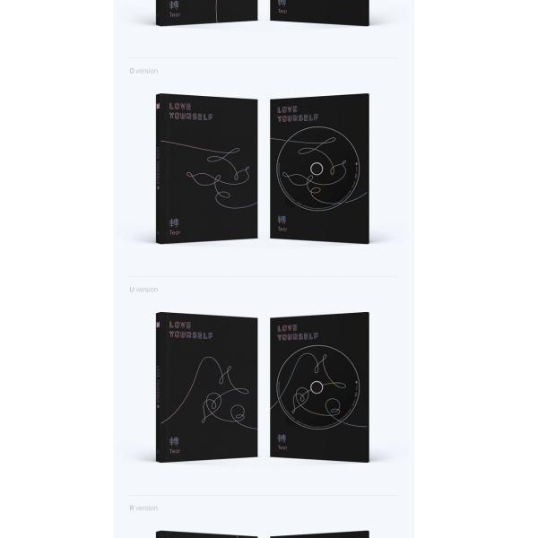 【VER選択】【全曲和訳】BTS LOVE YOURSELF 轉 Tear 3rd  防弾少年団 正規 3集【ポスター選択 l レビューで生写真5枚 l 送料無料】|shop11|03