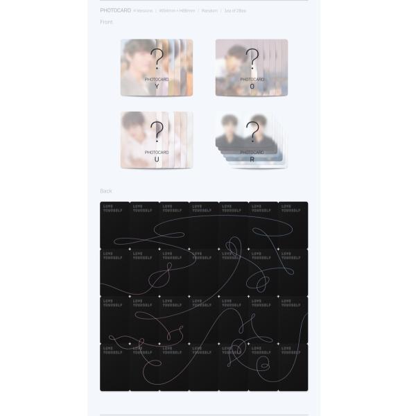 【VER選択】【全曲和訳】BTS LOVE YOURSELF 轉 Tear 3rd  防弾少年団 正規 3集【ポスター選択 l レビューで生写真5枚 l 送料無料】|shop11|05