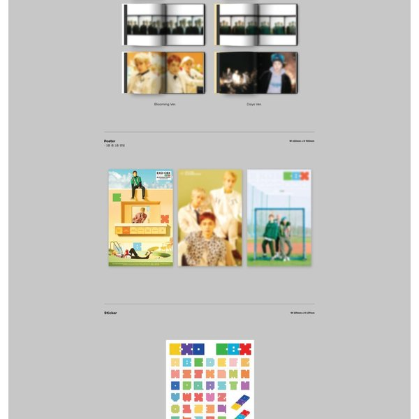 【VER選択】【全曲和訳】EXO CBX BLOOMING DAYS 2ND MINI チェンベクシー 2集 ミニ アルバム【レビューで生写真5枚】【送料無料】|shop11|04