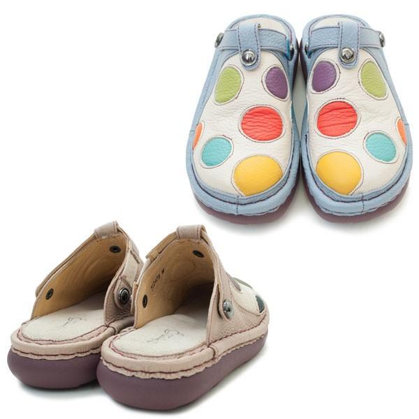 エスタシオンTG247B エスタシオン 靴 2WAYサボサンダル アイボリー/マルチ ベージュ/マルチ ESTACION ミュール ローヒール バックバンド本革