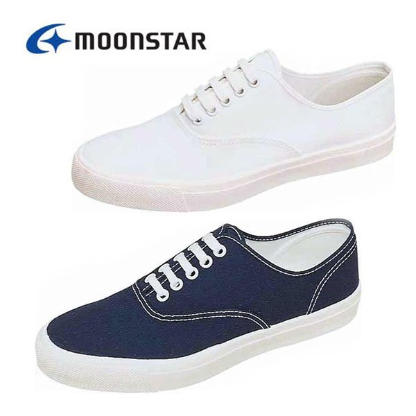 MOONSTAR ムーンスター メンズレディース ベンチャースニーカー11 デイリーシューズ スポーツ 綿布 丈夫 紐靴 ユニセックス ホワイト ブルー 白 青 /ST