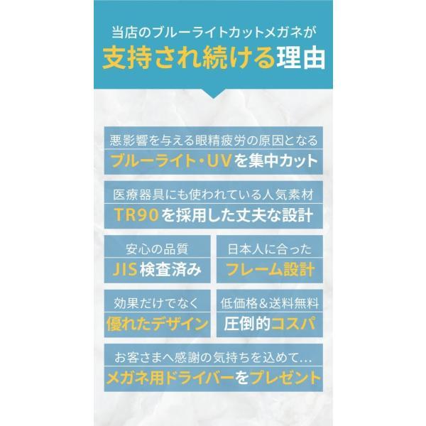 PCメガネ ブルーライトカットメガネ HEVカット率90% UVカット率99% BLカット率23.9% JIS検査済 メガネ用精密ドライバー付き chorbmark|shopao|06