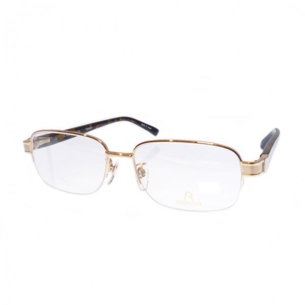 ローデンストック 正規品 即納 RODENSTOCK Exclusiv スクエア ナイロール ゴールド チタン R0187-A-55 メンズ メガネフレーム
