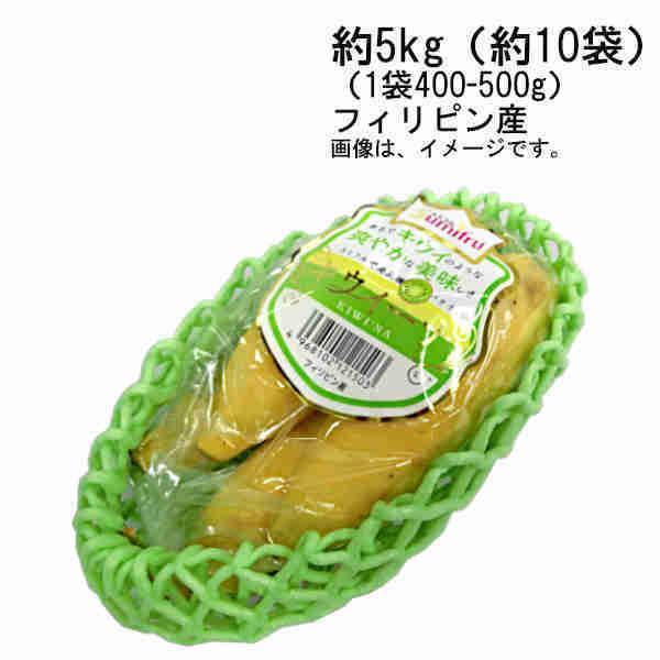 送料無料 キウイーナバナナ フィリピン産 約5kg (約10袋入 1袋 約400-500g)
