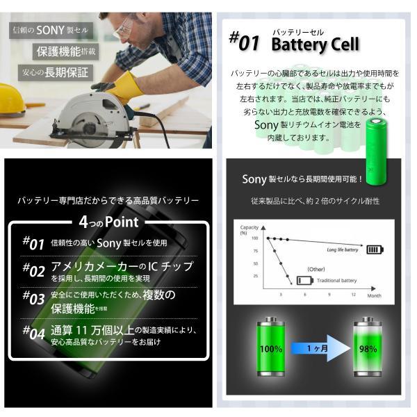 BOSCH ボッシュ A1850LIB BAT609 BAT610 BAT618 互換 バッテリー 18V 5000mAh Sonyセル|shopduo|02