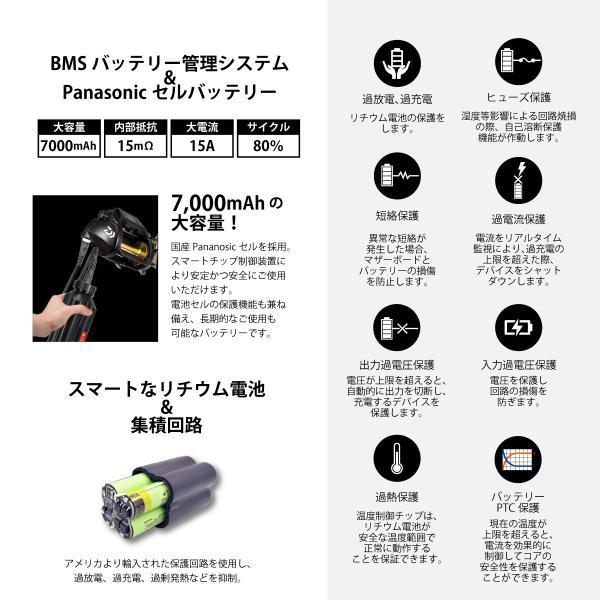 超大容量 ダイワ 電動リール用 互換 BM バッテリー 本体 ホルダー 充電器 3点セット 14.8V 7000mAh|shopduo|03