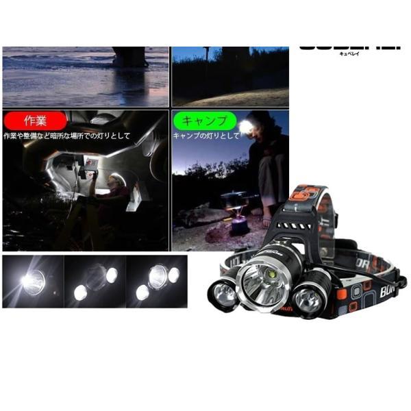 キュベレイ ヘッドライト LEDライト 充電式 防水超強力 5000LM 4点灯モード 登山 夜釣り 10万時間 CYUBEREI shopeast 04
