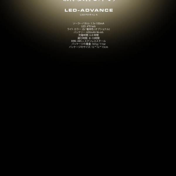 LEDアドヴァンス 4台セット 32LED ソーラー 光センサー 夜間自動点灯 埋め込み式 防水 ライト 防犯 庭 芝生 4-LEADVAN|shopeast|07