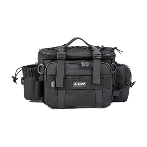 3WAY 釣りバッグ ブラック 多機能 釣り袋   フィッシングバッグ 大容量 1000D防水 オックスフォード布 タックルバッグ TURIBBA-BK