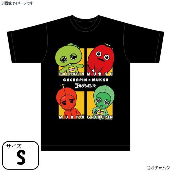 ガチャピン・ムック×ガチュピン・ムックー Tシャツ ブラック Sサイズ
