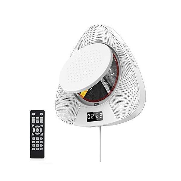 CDプレーヤー壁掛け卓上置き式ポータブルCDラジオ/Bluetooth/AUX/USB対応高音質