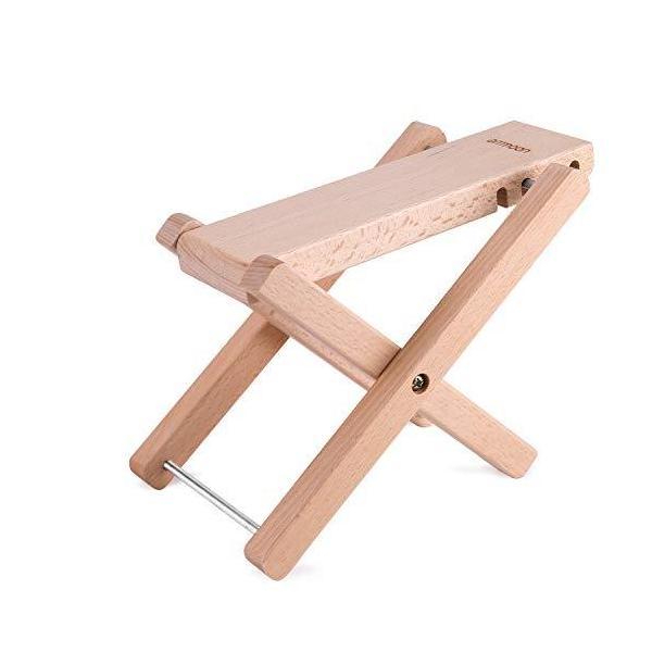 ギターフットスツールフットスタンド軽量足台木製ギターフットスツールammoon