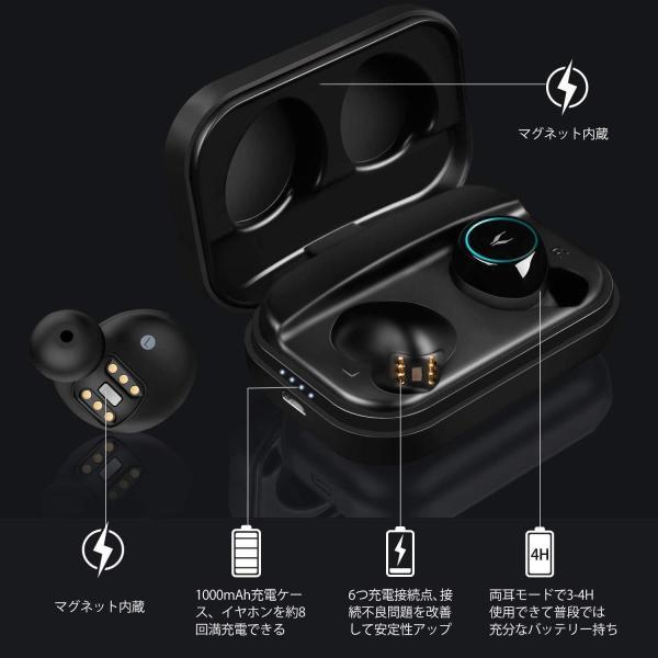 三色イルミネーション カメレオン 自動ON/OFF/ペアリングMYCARBON Bluetooth イヤホン ワイヤレス Bluetooth|shopnoa|06