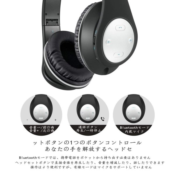 Bluetooth ヘッドホン MKayワイヤレスヘッドフォン 密閉型 高音質 Bluetooth V4.2 25時間音楽再生 1.5時間の