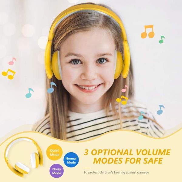 MindKoo 子供用ヘッドホン Bluetooth キッズ ヘッドホン ワイヤレス ヘッドセッド 折り畳み式 ボリューム制限 有線無線兼用|shopnoa|02
