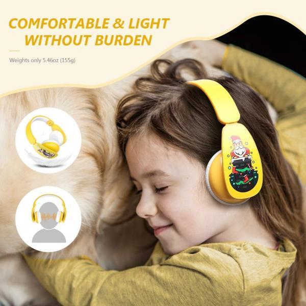 MindKoo 子供用ヘッドホン Bluetooth キッズ ヘッドホン ワイヤレス ヘッドセッド 折り畳み式 ボリューム制限 有線無線兼用|shopnoa|06