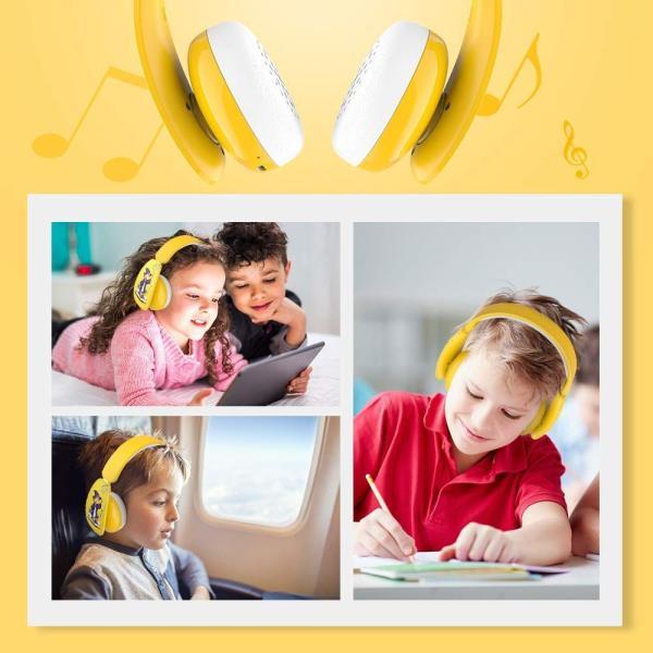 MindKoo 子供用ヘッドホン Bluetooth キッズ ヘッドホン ワイヤレス ヘッドセッド 折り畳み式 ボリューム制限 有線無線兼用|shopnoa|10