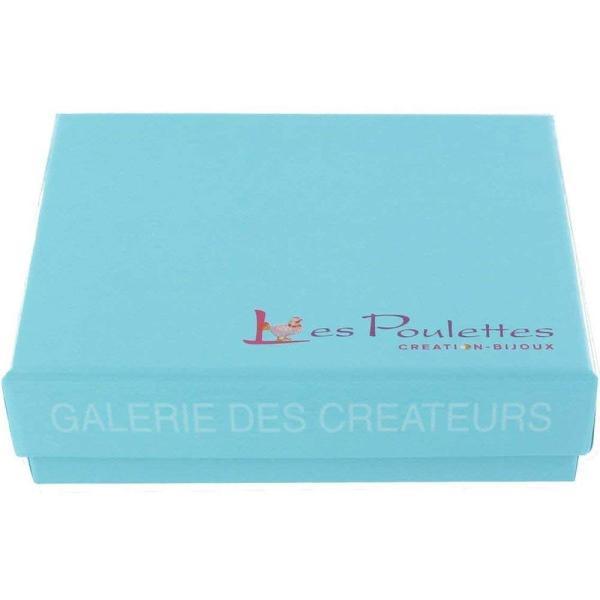 (レ・プレット)Les Poulettes ブラック セラミック ディスク シルバー ロジウム ピアス