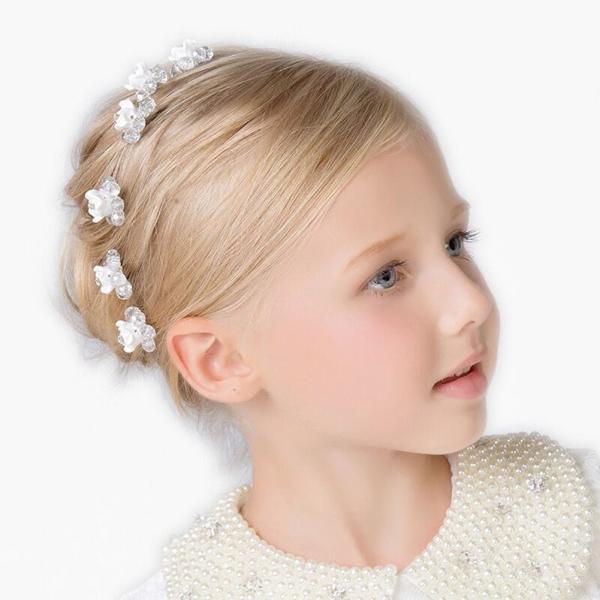 b82e42d6f9ea7 DreamYoキッズ Uピン髪飾り 子ども用 ヘアアクセサリー 七五三 髪飾り フォーマル パーティー 演奏
