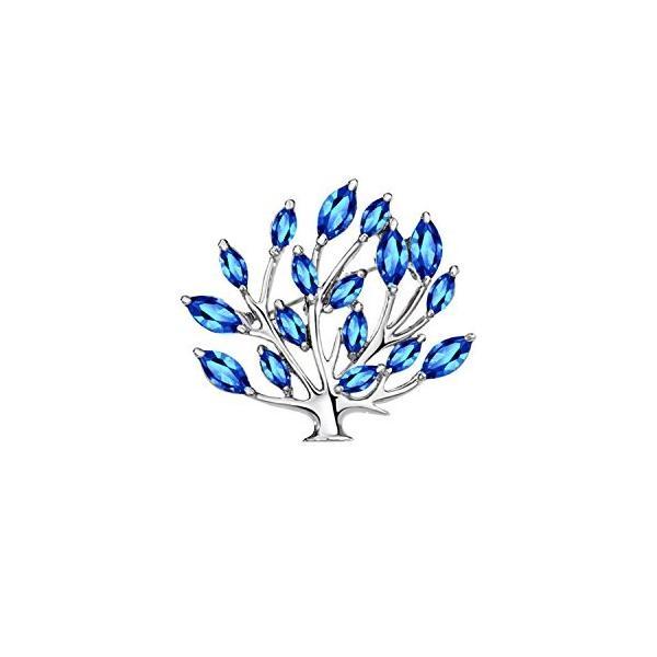 (ネオグロリー)Neoglory Jewelry レディース 女性 葉型 クリスタル プロッチ ジュエリー アクセサリー
