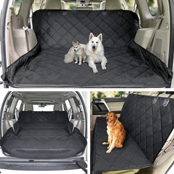 HCMAX ペット用ドライブシート 人気トランクマット 車用ペットシート 犬用カーシートカバー 防水 高品質 滑り止め 車後部座席 折り畳み shopnoa