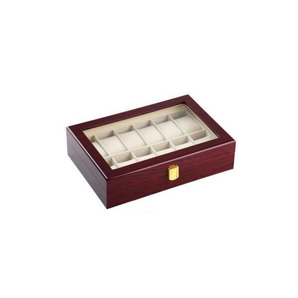ノーブランド品木製 腕時計 ケース 12本用 収納 コレクション ボックス
