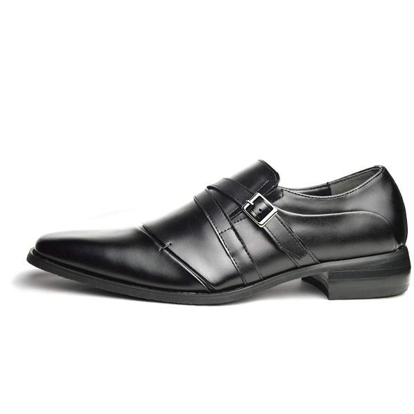 NERO CORSARO 本革 日本製 ビジネスシューズ 革靴 紳士靴 メンズ モンクストラップ スリッポン ローファー nc902 Bla