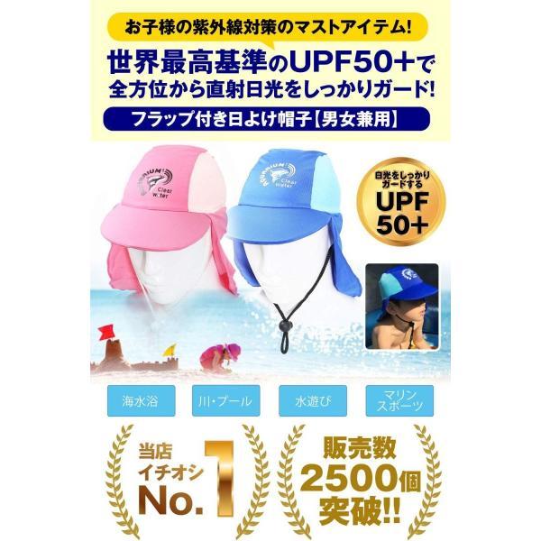 (リッチェ) Ricce 子供用 UVカット 水泳帽 スイムキャップ 日よけ帽子 UVキャップ ツバ付 男女兼用 帽子 キッズ スイミング