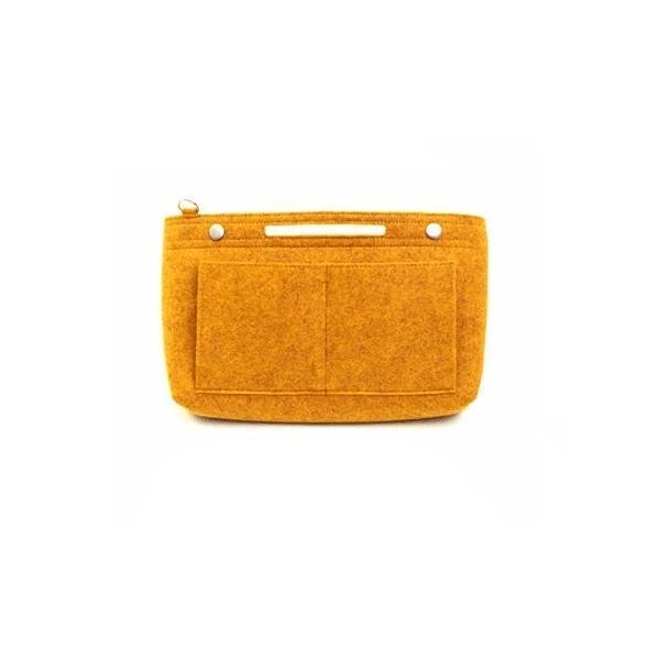 バッグインバッグ フェルト インナーバッグ felt bag in bagフェルトバッグインバッグVer.2 MUSTARD|shopnoa|03