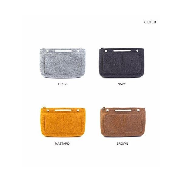 バッグインバッグ フェルト インナーバッグ felt bag in bagフェルトバッグインバッグVer.2 MUSTARD|shopnoa|04