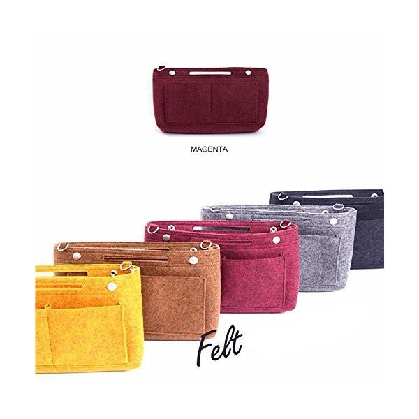 バッグインバッグ フェルト インナーバッグ felt bag in bagフェルトバッグインバッグVer.2 MUSTARD|shopnoa|06