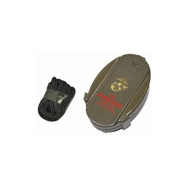 携帯灰皿 USMC (海兵隊) ミリタリー コンパクト 灰皿 携帯用 ストラップ付き|shopnoa