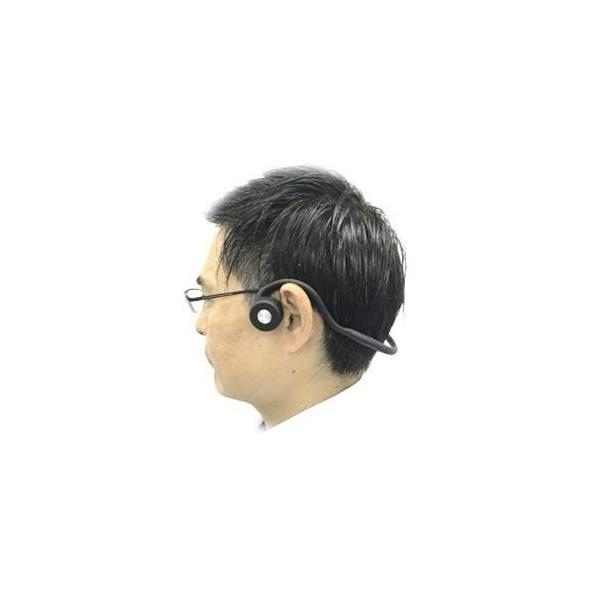 骨伝導集音器DenDen(デンデン)鼓膜を介さず内耳に直接音が届く クリアな音質 集音器付骨伝導ワイヤレスヘッドホン (本体)