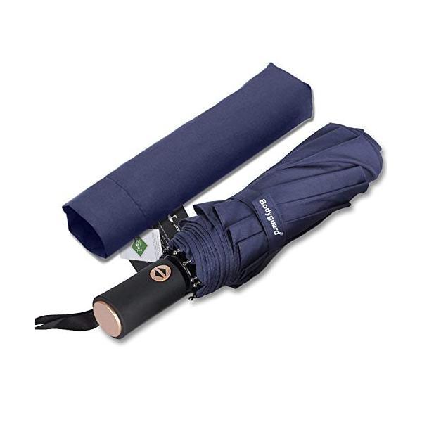 Bodyguard 折り畳み傘 ワンタッチ自動開閉傘 頑丈な10本骨 Teflon撥水加工210T最高級のファブリック 高強度グラスファイバ shopnoa
