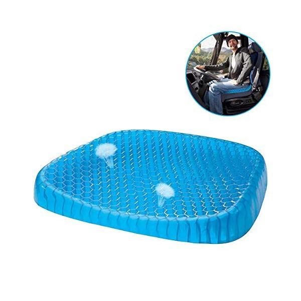 Kaite Key ゲルクッション 健康クッション 蜂の巣デザイン 無重力クッション 体圧分散 低反発 通気性抜群 座布団 骨盤サポート 蒸|shopnoa|04
