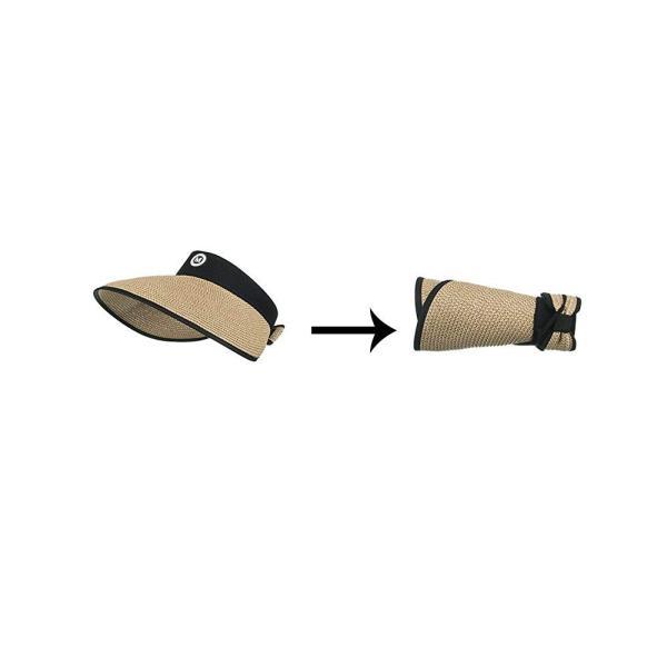 (クルーズライン)CRUISE LINE 紫外線対策に つば広 麦わら サンバイザー 帽子 キャップ UVカット ビーチ 海 プール アウト