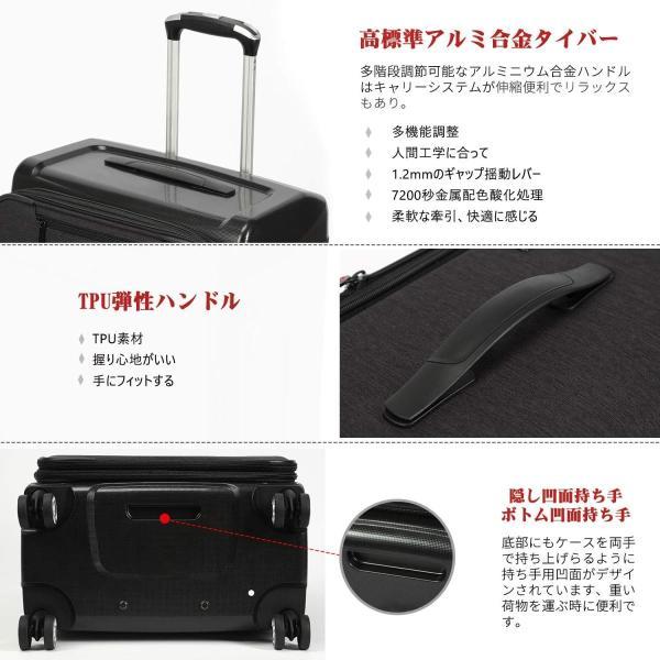 Uniwalker 防水加工 スーツケース 容量拡張可能 超軽量 キャリーバッグ 旅行 出張 キャリーケース TSAロック 丈夫 静音 S型 shopnoa