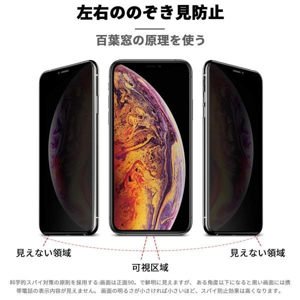 MDpace 1枚 2019最新携帯覗き見防止ガラスフィルム 、アップル:iPhone X/Xs、iPhone Xr、iPhone Xs m|shopnoa|08