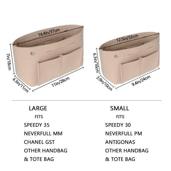 HyFanStr バッグインバッグ フェルトインナーバッグ 軽量 バックインバック レディース 収納バッグ 整理 bag in bag ベー|shopnoa