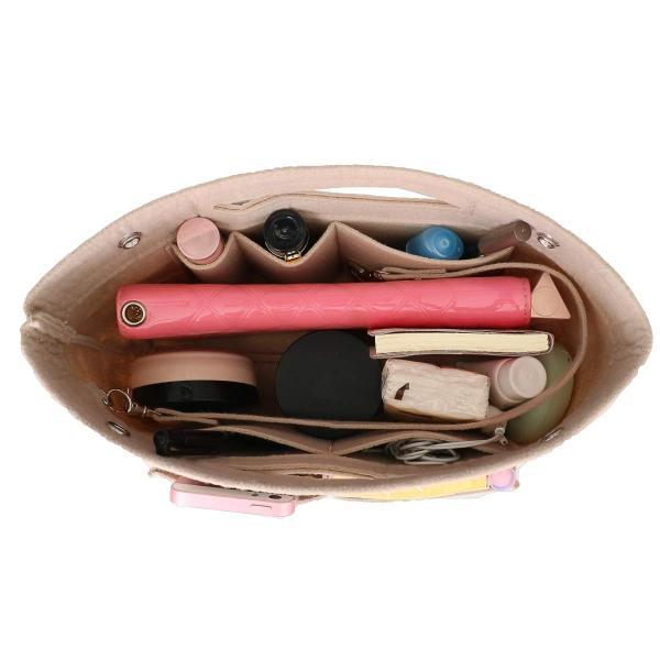 HyFanStr バッグインバッグ フェルトインナーバッグ 軽量 バックインバック レディース 収納バッグ 整理 bag in bag ベー|shopnoa|03
