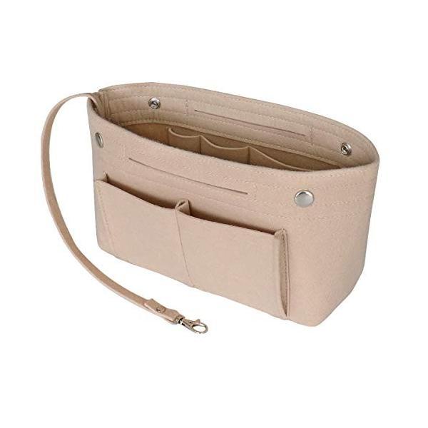 HyFanStr バッグインバッグ フェルトインナーバッグ 軽量 バックインバック レディース 収納バッグ 整理 bag in bag ベー|shopnoa|08
