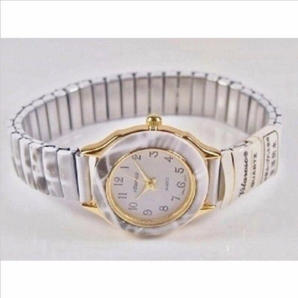 腕時計 ジャバラベルト ウォッチ ラウンドフェイス レディース 保証書 日本製ムーブ クオーツ