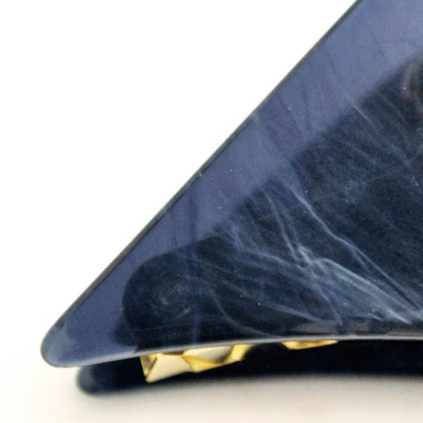バンスクリップ 髪留め 髪飾り トライアングル マーブル模様 三角 ヘアアクセサリー お洒落